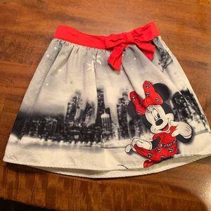 Disney Minnie Mouse Christmas skirt - size 6